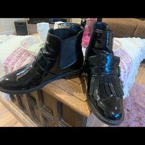 Marc Fisher Patent Leather Brigita Tassel Boot
